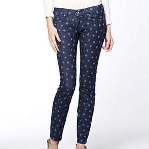 Lucky Brand Charlie Skinny Printed Jeans